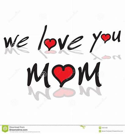 Mom Clipart Momma Text Hearts Dreamstime Royalty