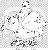 Executioner Axe Flail Holding Cartoon Clipart Outlined Vector Royalty Transparent Djart Clip sketch template