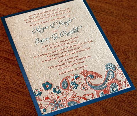 indian wedding invitation indian letterpress wedding invitation design tanvi invitations by ajalon