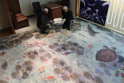 3D epoxy Flooring by Heaven 3D Interiors Lahore /Metallic