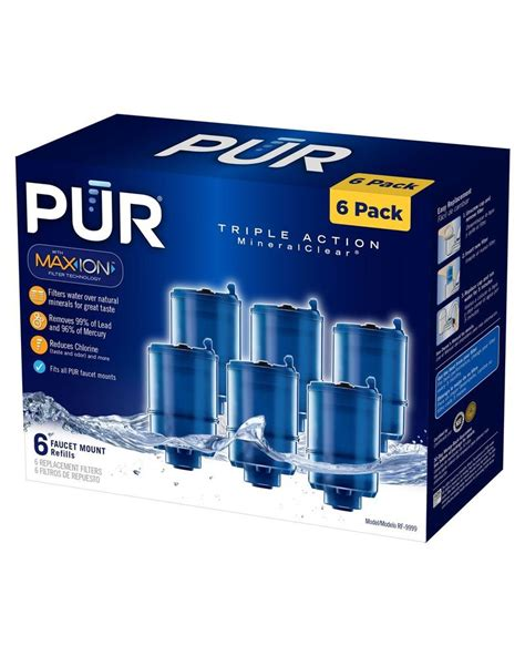 pur faucet filter refill nib 6 pur mineralclear faucet refill replacement water