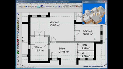 Wohnen Der Zukunft 3d Das Haus Im Computer by Grundrisse Erstellen Zeichnen Mit Va Hausdesigner