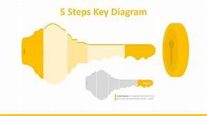 5 Steps Key Powerpoint Diagram
