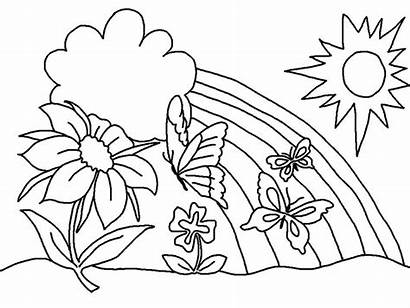 March Coloring Pages Rainbow