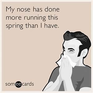 My nose has don... Fun Seasonal Quotes