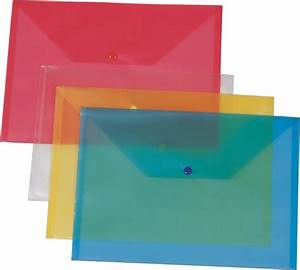 a4 pp plastic file folder document bag with a plastic lock With plastic document bag