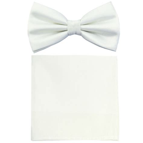 formal mens polyester pre tied bow tiehankie solid