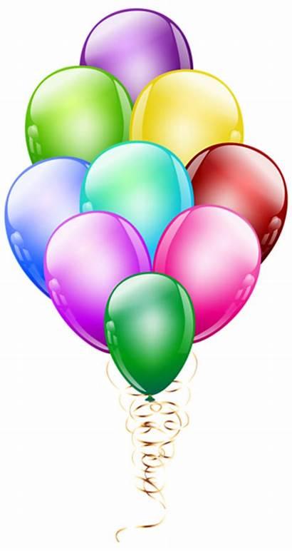 Balloon Clipart Bunch Balloons Birthday Happy Transparent