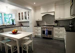 15 cool kitchen designs with gray floors designer for Kitchen colors with white cabinets with outline stickers