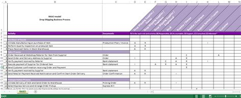 rasci matrix template  instructions templates