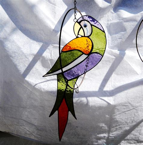stained glass panel quot oriole in a floral surrounding quot p 25