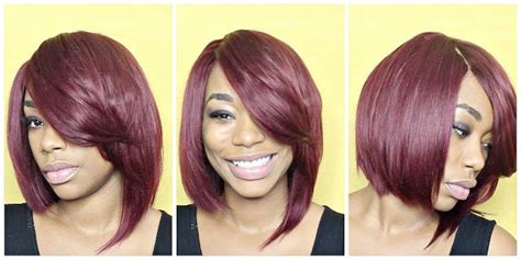 Red Bob Cut Quick Weave Hair Tutorial- Chimerenicole Quick