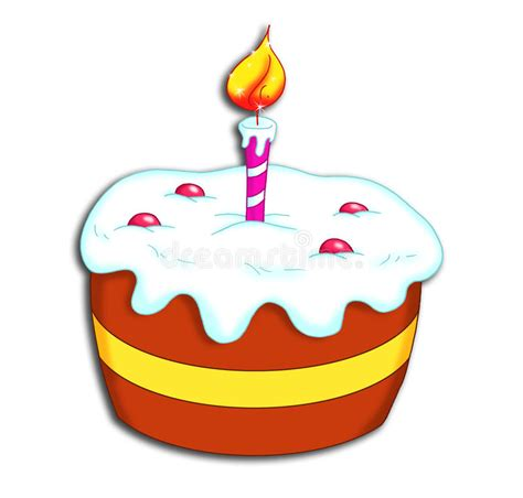 clipart compleanno torta di buon compleanno illustrazione di stock