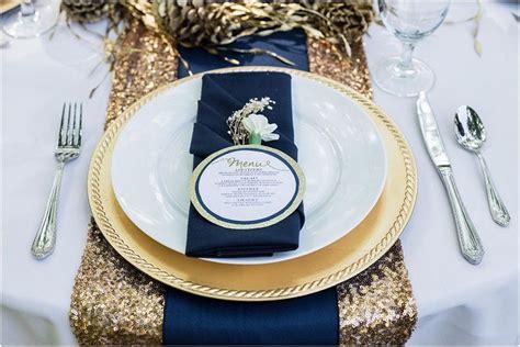 navy blue gold wedding color palette linentablecloth