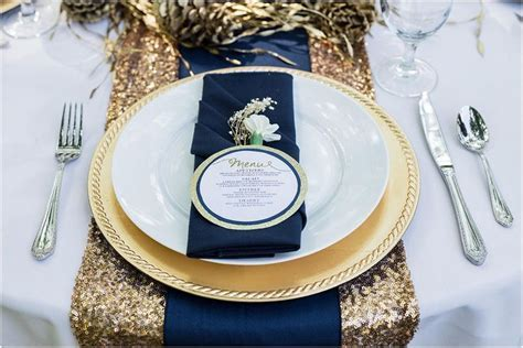 Navy Blue & Gold Wedding Color Palette   LinenTablecloth