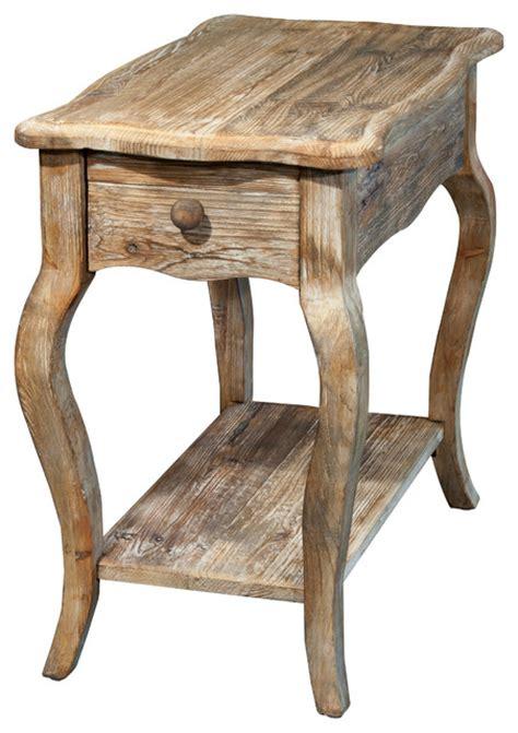 side table rustic reclaimed chairside table driftwood farmhouse Farmhouse