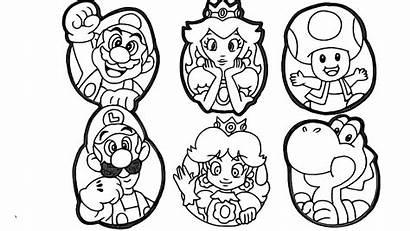 Mario Coloring Bros Nintendo Printable Peach Luigi