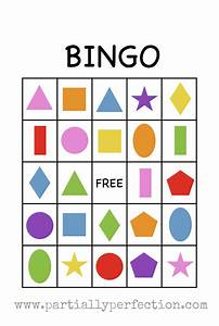 Shape Bingo Fun Family Crafts