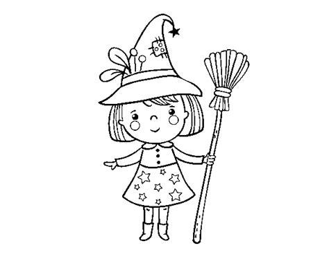 disegni bambina da stare e colorare disegno di strega della bambina da colorare
