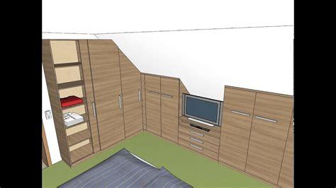 einbauschrank schlafzimmer dachschräge schlafzimmer einbauschrank dachschr 228 ge tv