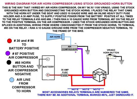 wiring diagram for air horns using stock grounded horn button iamflagman at pbase