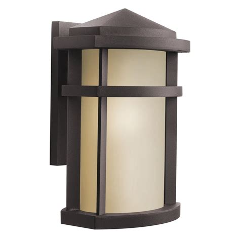 kichler 9167az lantana outdoor wall 1 light architectural