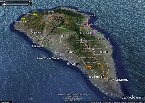 la palma map  travel information   la