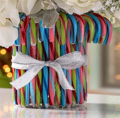 candy cane decorations christmas vase diy candy