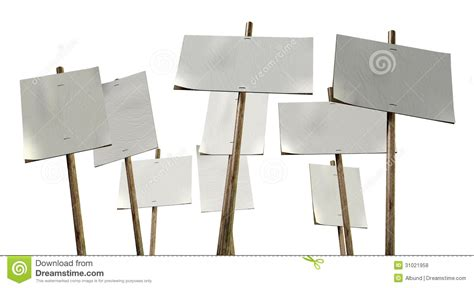Blank Strikers Picket Plackards Stock Photo  Image 31021958. Claims Signs. Site Sign. Dream Home Murals. Obscure Signs. Zoroastrian Signs Of Stroke. Loneliness Signs Of Stroke. Dinosaur Murals. Street Nyc Lamp Post Banners