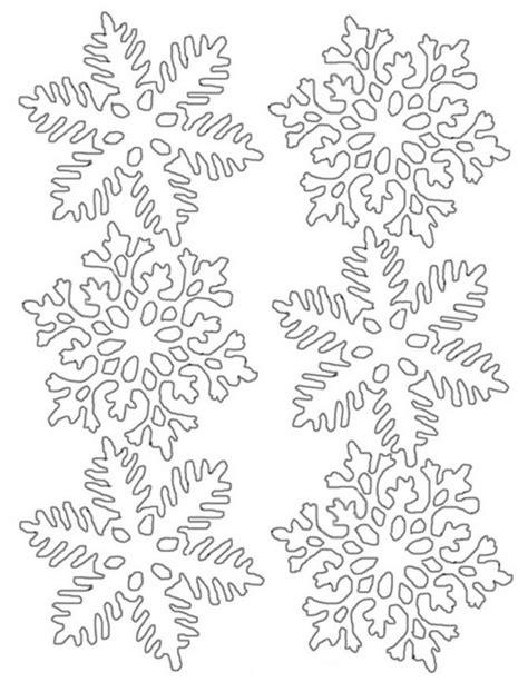 snowflake template snowflake stencils diy 100 ideas