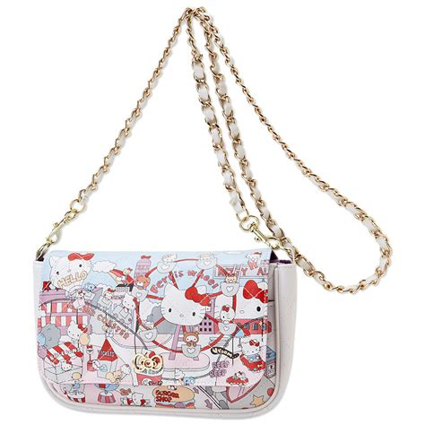 Synthetic Rugs by Hello Kitty Mini Shoulder Bag Purse Amusement Park Sanrio