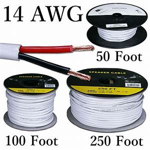 14 Awg Solid Copper Stranded Speaker Wire 2 Conductor