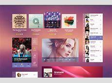 Bright Music UI Kit Free PSD PSDExplorer