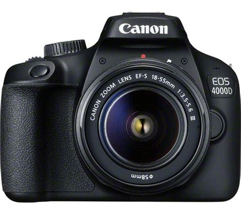 Buy Canon Eos 4000d Dslr Camera With Efs 1855 Mm F355