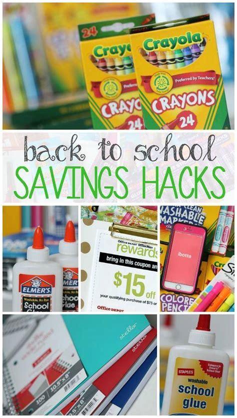 back to school hacks to back to school savings hacks for school supplies