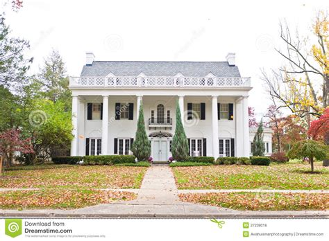 Large Neoclassic Style Home Royalty Free Stock Photos