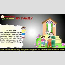 Nursery Rhymes My Family Songs With Lyrics Youtube