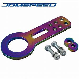 Neo Chrome Front Tow Hook For Honda Civic Integra Crx Smx