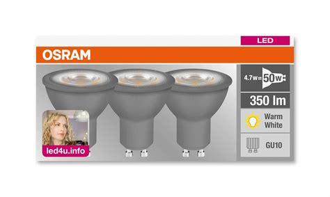 led gu10 osram osram led gu10 light bulb 4 7w 50w 3 pack led