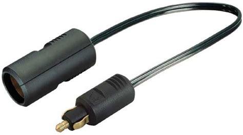 zigarettenanzünder adapter steckdose adapter normstecker auf zigarettenanz 252 nder steckdose f 252 r 12 24 volt mit 0 25m kabel 8a 12 24