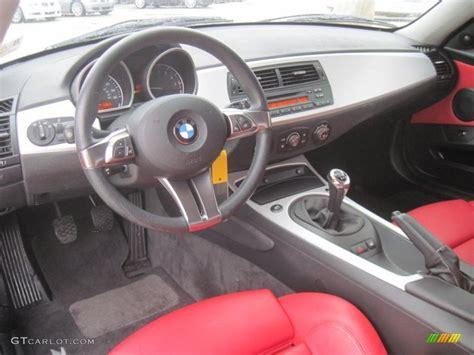 Dream Red Interior 2007 Bmw Z4 3.0si Coupe Photo #39187731