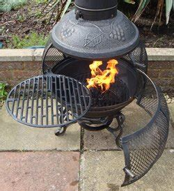 Chiminea Grill Rack by Castmaster Alfresco Cast Iron 360 Degree Firepit Chiminea