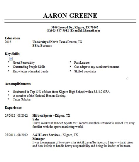What Skills To Put On Resume For Fast Food by Resume Aaron S Portfolio