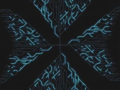 Geometric Animation Techno Motion Ui Background Medium