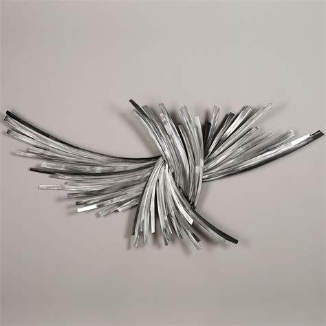 infinity silver metal wall sculpture art   metal