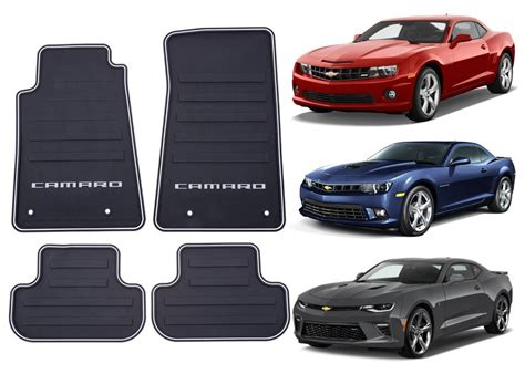 camaro floor mats genuine gm 22766717 front rear all weather floor mats