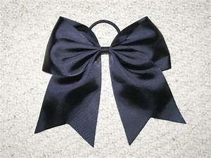 Light Pink Cheer Bow New Quot Black Quot Cheer Bow Pony 3 Inch Ribbon Girls Hair
