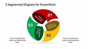 3 Step Spherical Segmented Diagram For Powerpoint