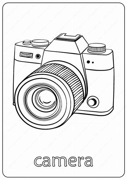 Camera Coloring Pdf Drawn Coloringoo Draw Drawing