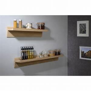 étagère Murale Salon : etag re murale naturel ch ne massif x cm mm leroy merlin ~ Farleysfitness.com Idées de Décoration